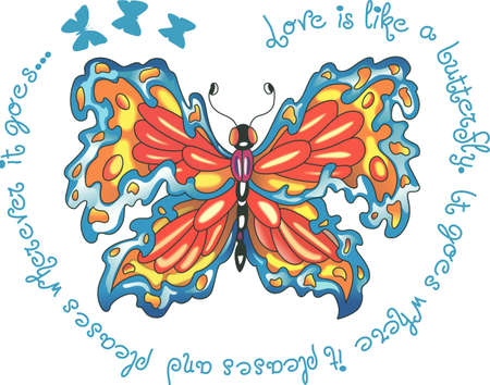 mariposa: This is a beautiful butterfly for your summertime fun.