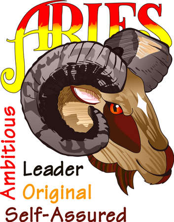Display your astrological sign with this beautiful ram for the sign Aries.