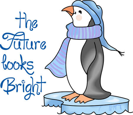 seabird: This adorable little penguin is perfect for your decorating.   The students will love it! Illustration