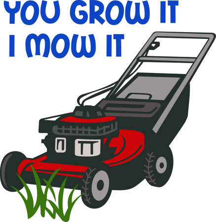 mowers: Its the perfect advertisement for your mowing business.    Illustration
