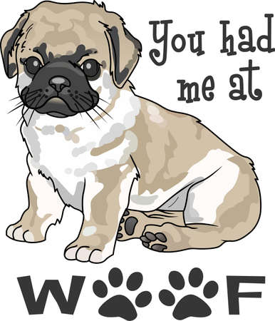 whelps: Take your Pug everywhere you go.   Illustration