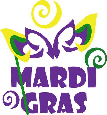 Grab your Mardi Gras mask and head to the ball.     Ilustração
