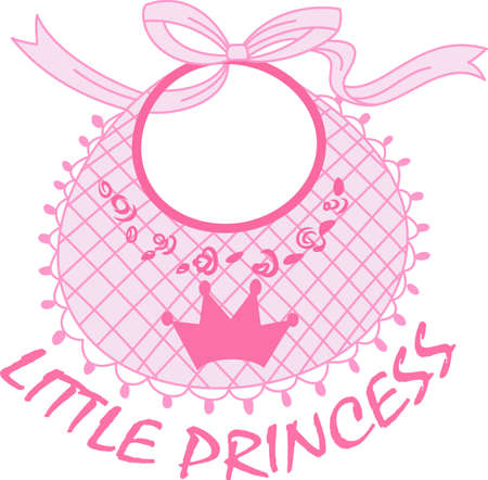 bibs: A baby girl is made from sugar and spice everything sweet and everything nice.  Use this design on the newborn girls nursery.  Illustration