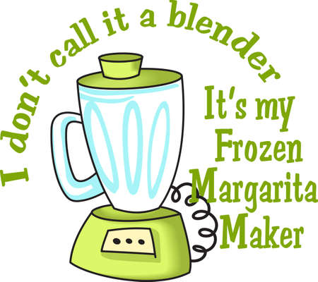 Its not a blender.  Its a frozen margarita maker.   向量圖像
