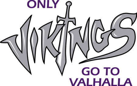 Show your team spirit with this Vikings  .  Everyone will love it! Illustration