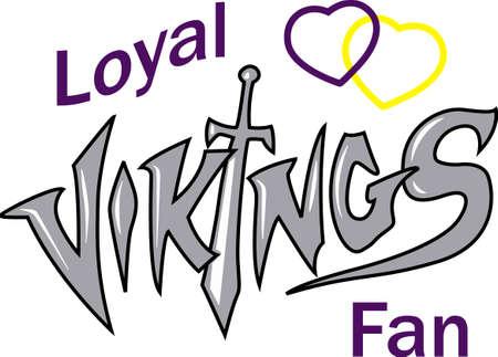 이 Vikings 로고로 팀 정신을 보여주십시오. 모두가 좋아할 것입니다! 일러스트