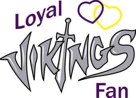Show your team spirit with this Vikings logo.  Everyone will love it!