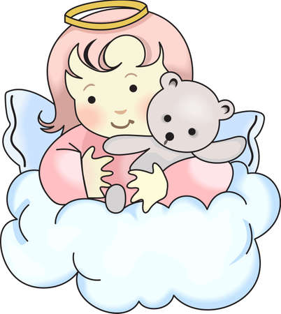 cherubs: Every time a bell rings and angel gets their wings.  A beautiful design from Great Notions. Illustration