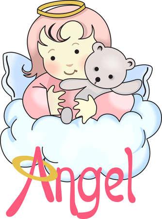 Chaque fois une cloche sonne et Angel obtient leurs ailes. Banque d'images - 45175251
