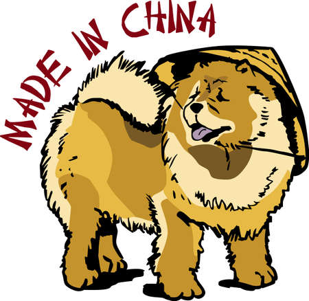 chow: I love my chow.    Illustration