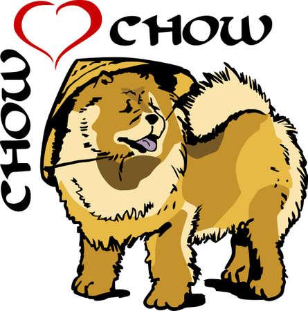 chow: I love my chow.    Illustration