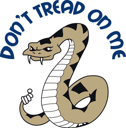 The snake was used on the flag, \