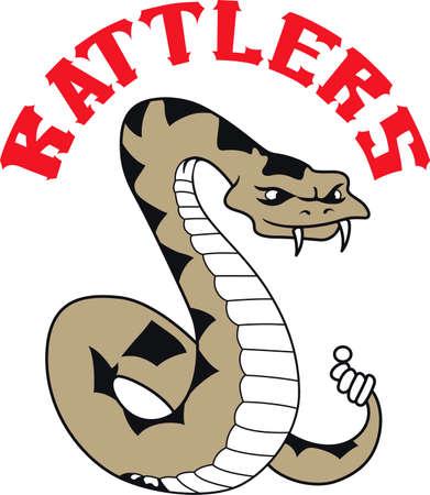 蛇は、「私にトレッドしない」フラグに使用されました。  イラスト・ベクター素材