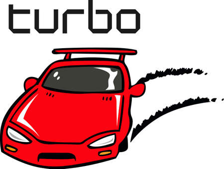 Fast and furious with this red sports car.  A perfect design for the next race.    Illustration