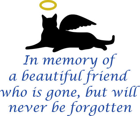 angel cat: The remembrance gift is a special gift for someone who lost their best friend.