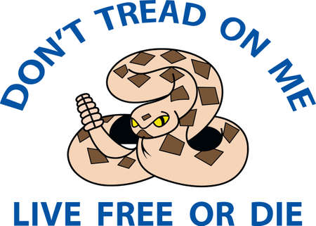 Dont tread on me, watch out for these on the path.