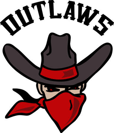 outlaw: The cowboy outlaw is the perfect design for the Rodeo.
