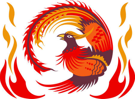 mythological character: This large return of the Phoenix makes a perfect gift for the hard to buy for teenager. Illustration