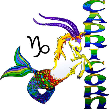 astrological: Display your astrological sign with this beautiful sea goat for the sign Capricorn.