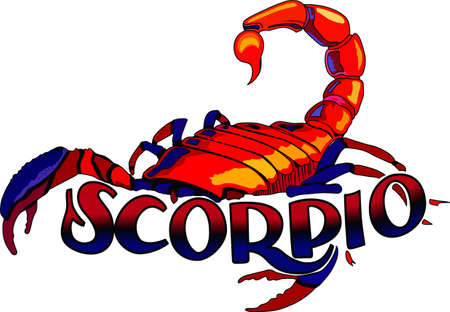 Display your astrological sign with this beautiful scorpion for the sign Scorpio.   Иллюстрация