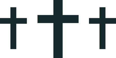 calvary: These beautiful crosses are perfect to add to a collar.