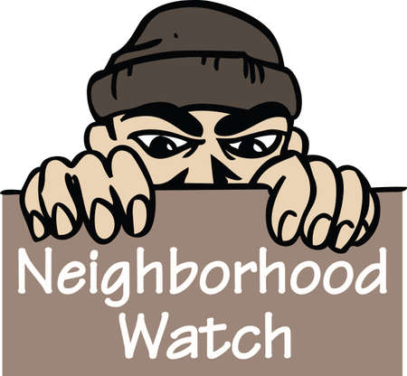 burglar alarm: Display that you are part of the neighborhood watch program for your area.    Illustration