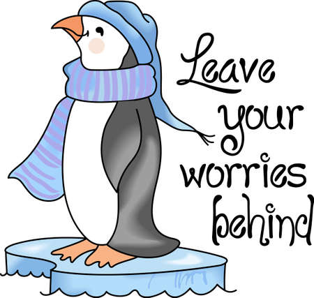 south pole: This adorable little penguin is perfect for your decorating.   The students will love it! Illustration