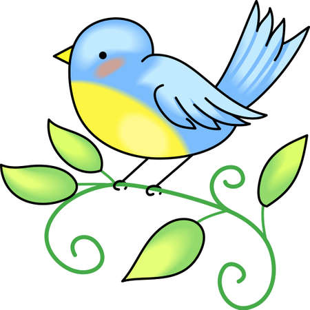 bluebird: Good morning sunshine!  Send this bluebird to start the day.    Illustration