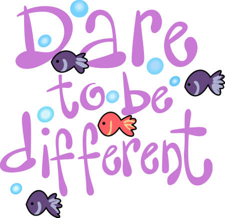 dare: This cartoon dare to be different is perfect for the reading room.  Your students will love it!
