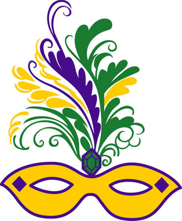 masque: Get ready for the Mardi Gras parties with this fantastic mask.    Illustration