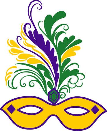Prepárese para las partes del carnaval con este fantástico máscara. Foto de archivo - 45203448