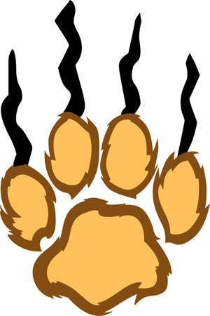 mountain lions: Show your team spirit with this lion paw  .  Everyone will love it!