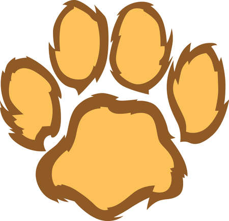 Show your team spirit with this lion paw  .  Everyone will love it!