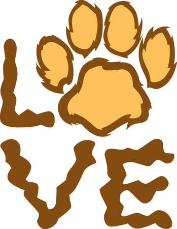 mountain lion: Show your team spirit with this lion paw  .  Everyone will love it!