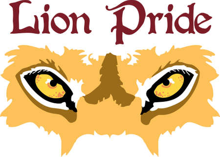 Show your team spirit with this lion eye  .  Everyone will love it!