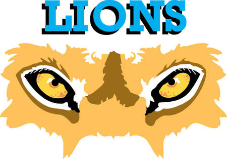 mountain lion: Show your team spirit with this lion eye  .  Everyone will love it!