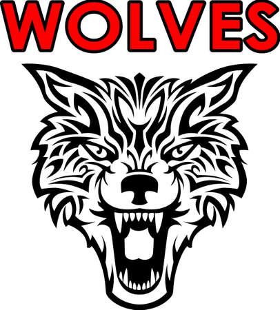 Toon uw teamgeest met deze wolf. Iedereen zal het geweldig vinden! Stock Illustratie