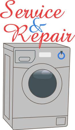 A cute design to brighten your laundry day.  Ilustração