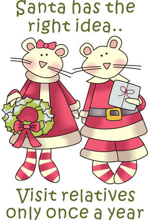 Send holiday cheers with these beautiful Christmas mice.