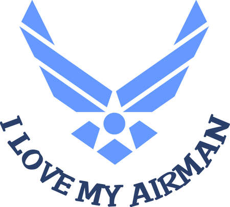 airman: Let them know you are proud of your airman.  Show support for our troops with this special design. Illustration