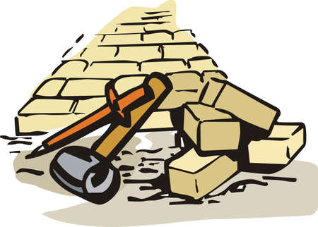 mason: Its the perfect advertisement for your masonry business.   Illustration