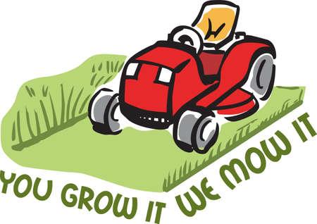 そのあなたの芝刈りのビジネスのための完璧な広告。  イラスト・ベクター素材