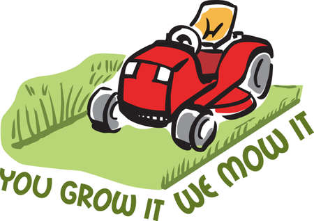mowing the lawn: Its the perfect advertisement for your lawn mowing business.