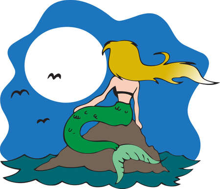 This beautiful mermaid Stok Fotoğraf - 45217378