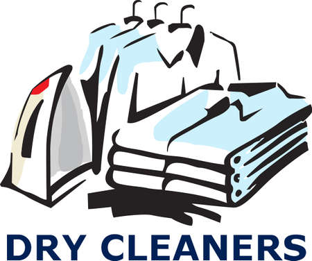 dry cleaners: Its the perfect advertisement for your laundry business.   Illustration