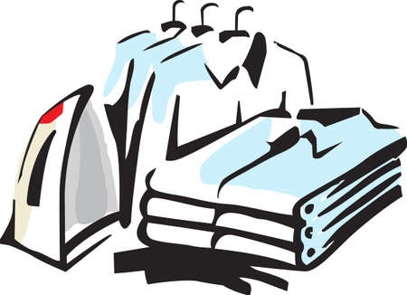 Its the perfect advertisement for your laundry business.   Stock Illustratie