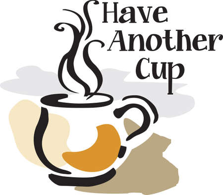 Vraag me niet om iets te doen voordat ik mijn koffie te krijgen. Stock Illustratie