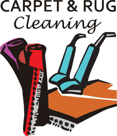 carpet clean: Its the perfect advertisement for your carpet cleaning business.   Illustration
