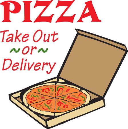 The perfect design to go with pizza night.  Ilustração