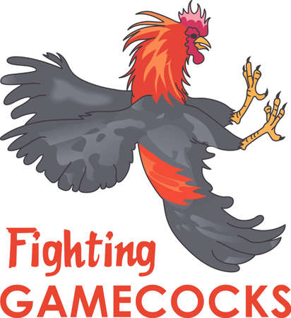 Show your team spirit with this Fighting Cock  .  Everyone will love it!